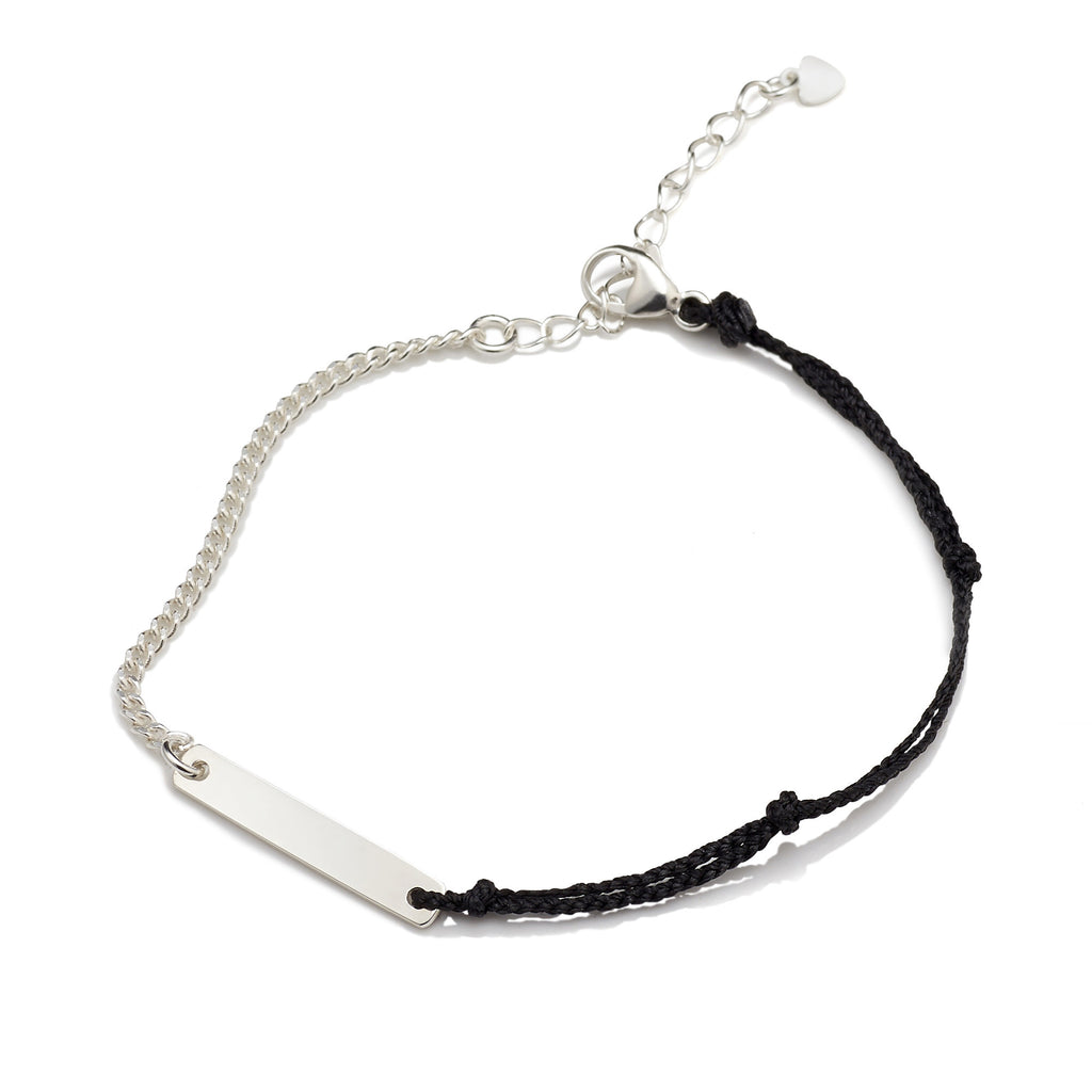 BE.ARUM Friendship Bracelet Black (Free Engraving) - BE.ARUM  - 1