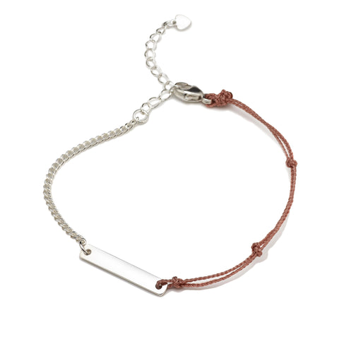 BE.ARUM Friendship Bracelet Rusty Pink (Free Engraving) - BE.ARUM  - 1