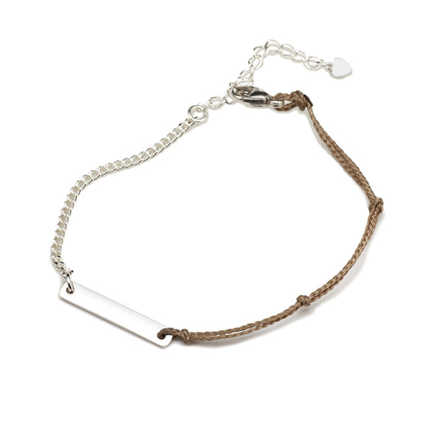 BE.ARUM Friendship Bracelet Tan (Free Engraving) - BE.ARUM  - 1