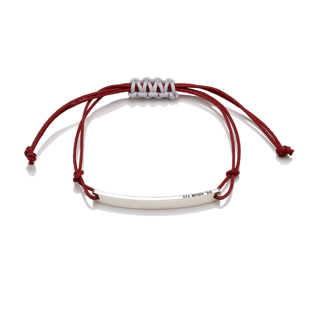 You are beautiful as you are Friendship Bracelet Red (Free Engraving) - BE.ARUM  - 2
