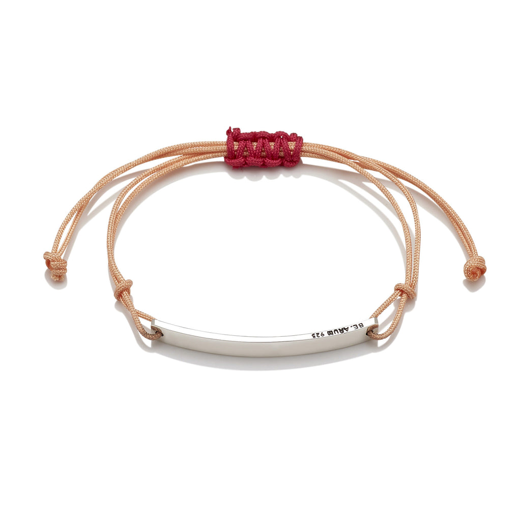 You are beautiful as you are Friendship Bracelet Coral (Free Engraving) - BE.ARUM  - 2