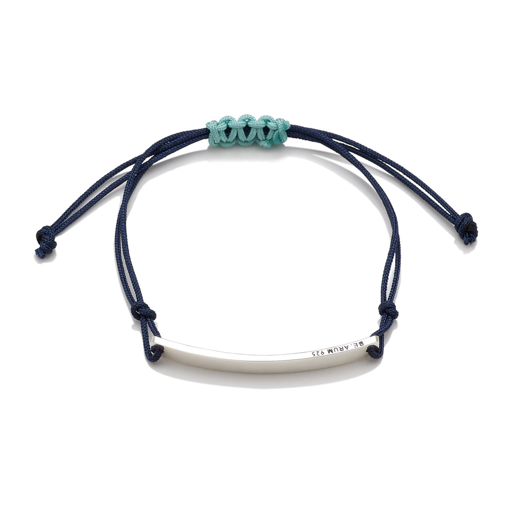 You are beautiful as you are Friendship Bracelet Navy (Free Engraving) - BE.ARUM  - 2