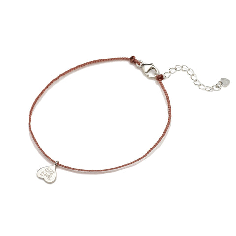 You are lovely Friendship Bracelet Rusty Pink - BE.ARUM  - 1