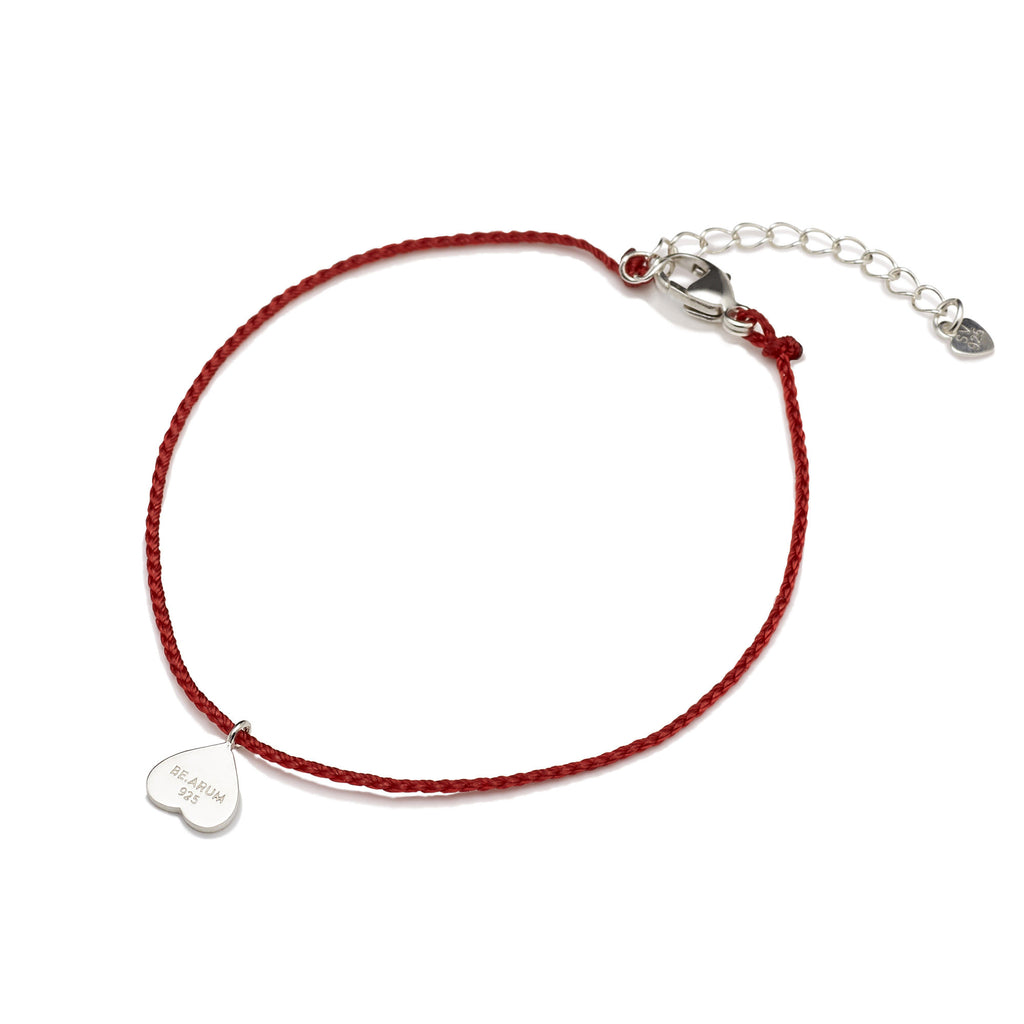 You are lovely Friendship Bracelet Red - BE.ARUM  - 2