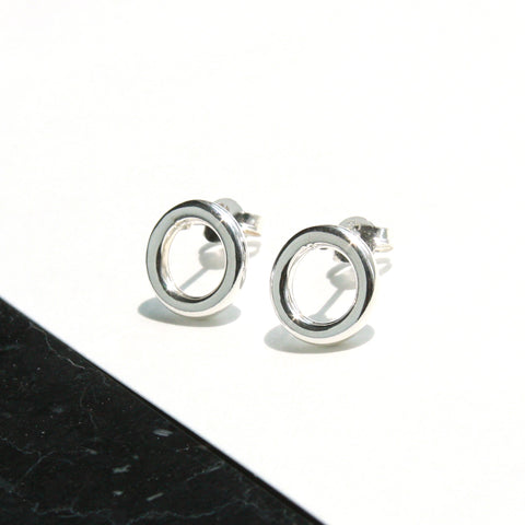 Bold Round Silver Earring