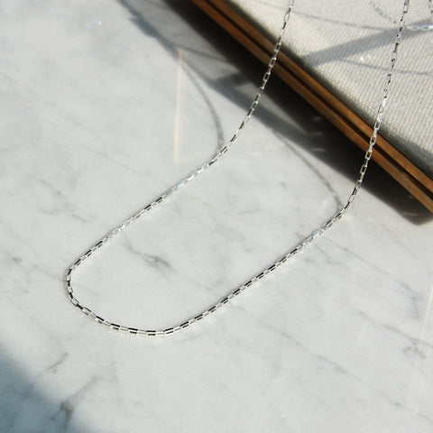 Brick Link Chain Necklace - 50cm