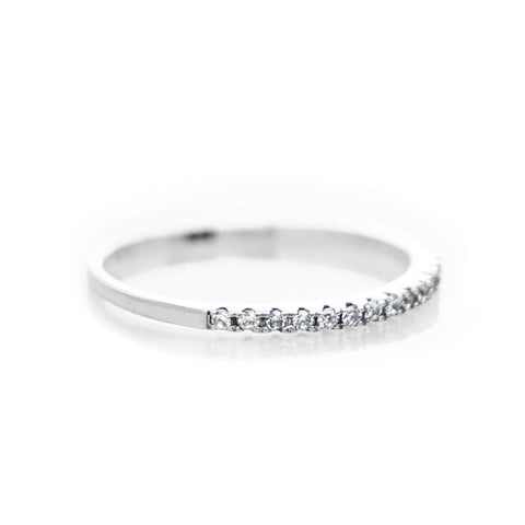 Pave Ring (White Stones) - BE.ARUM  - 1