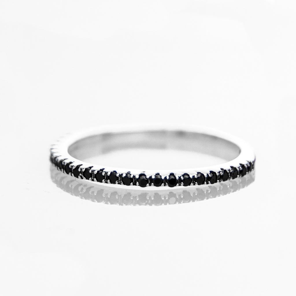 Pave Ring (Black Stones) - BE.ARUM  - 2