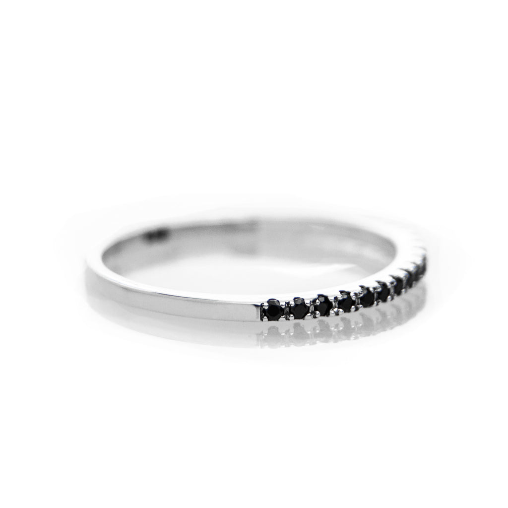 Pave Ring (Black Stones) - BE.ARUM  - 1