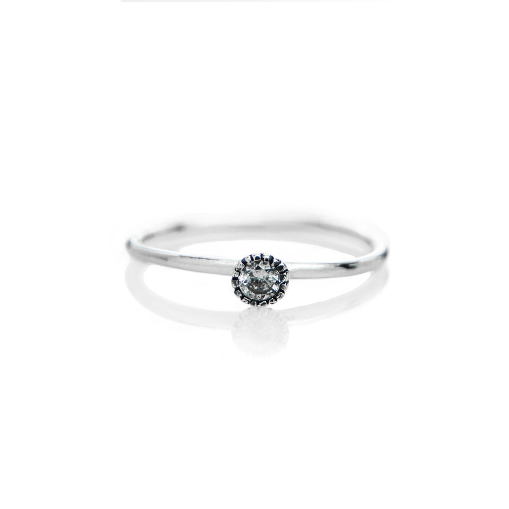 Stone Ring (White CZ) - BE.ARUM  - 1