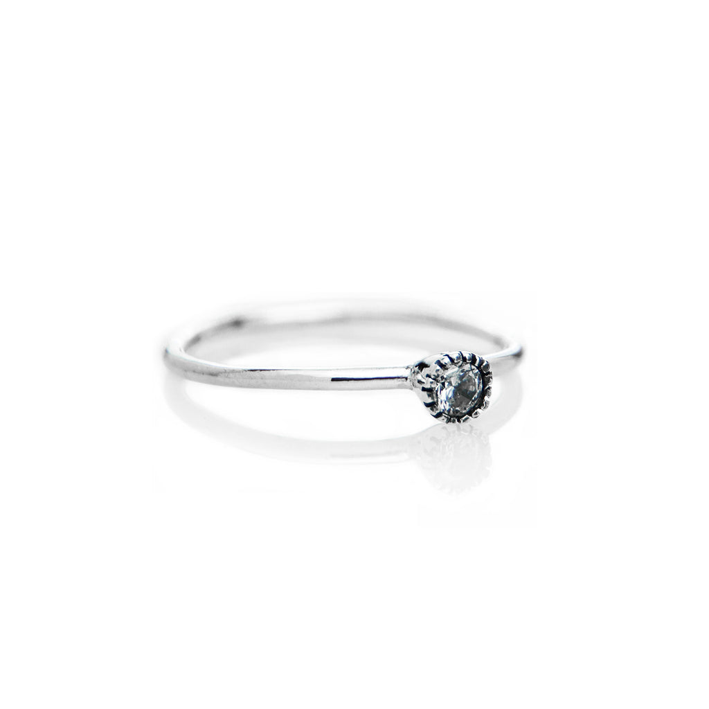 Stone Ring (White CZ) - BE.ARUM  - 2