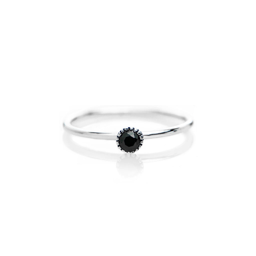 Stone Ring (Black CZ) - BE.ARUM  - 1