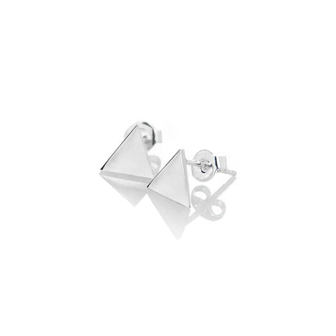 Triangle Earrings (Free Engraving) - BE.ARUM  - 1
