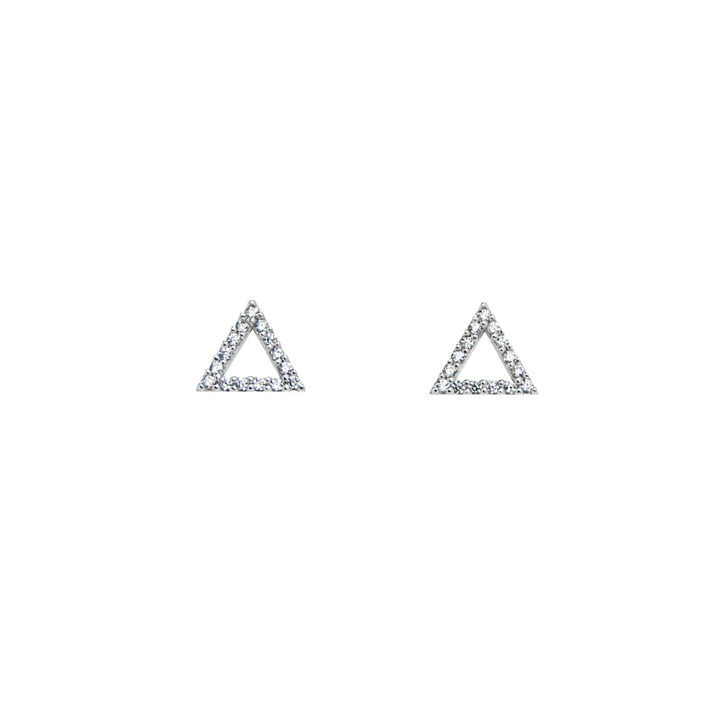 Pave Triangle Earrings - BE.ARUM  - 2