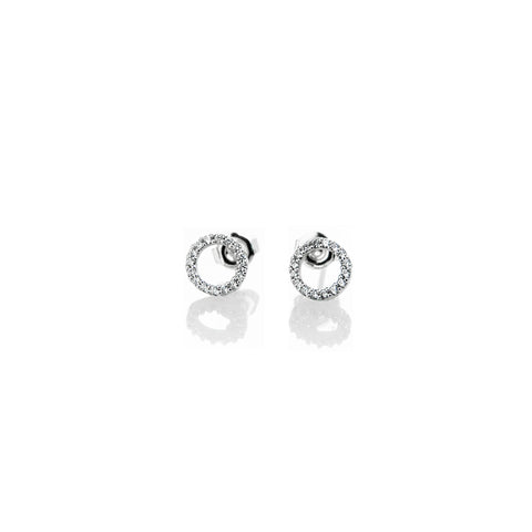 Pave Circle Earrings - BE.ARUM  - 1