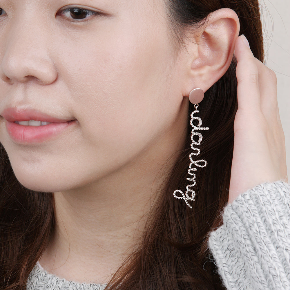 LIBRETTO Single Earring - Custom Handcrafted