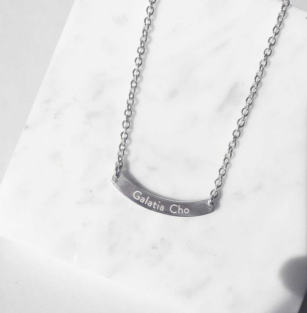 Thank you for being born Necklace - Children's  (Free Engraving-Back Side) - BE.ARUM  - 2