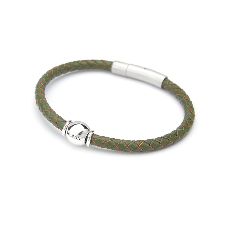 BE.NICE Bracelet Men's - Khaki Green