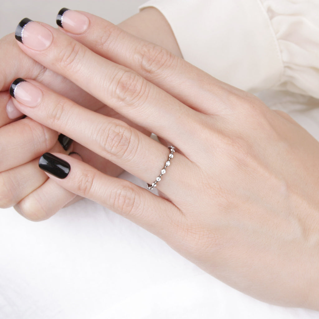 Angelic Black Delicate Ring