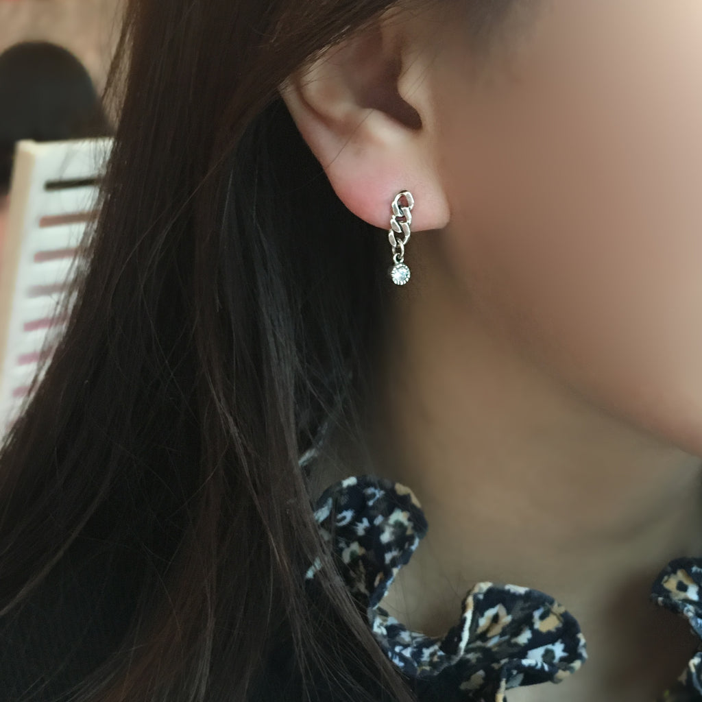 Chain Bar Dangle Earring