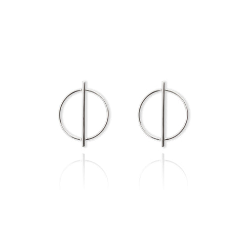 Geo Circle Bar Earring
