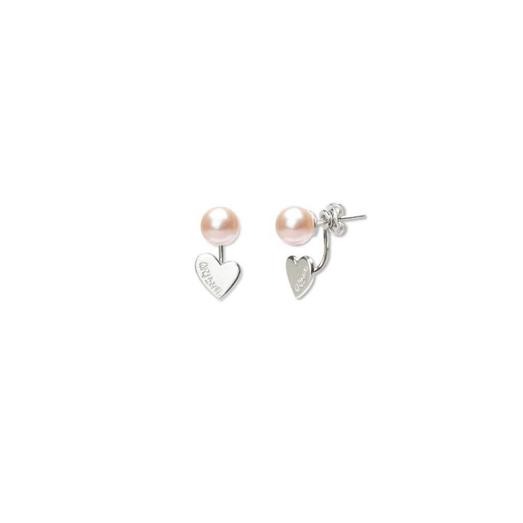 You are Lovely Earrings Peach Pearl