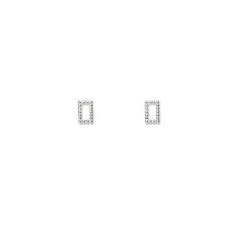 Dot Dots Rectangle Earring