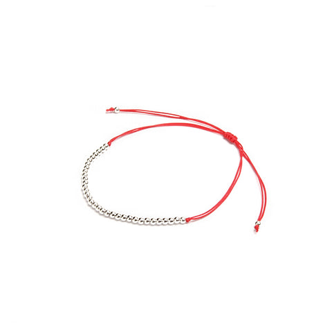 Red Thread Silver Anklet
