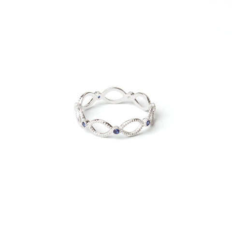 Ribbon Ring Blue Stone