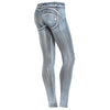 FREDDY WR.UP HAND BRUSHED DENIM EFFECT - Grey Streak