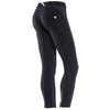 FREDDY WR.UP 7/8 ZIP ANKLE PIPING PANT - Black