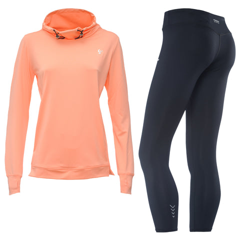 FREDDY POCKET SWEAT + PANT SET- Peach/Black