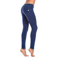 FREDDY WR.UP  CONTRAST STITCH SKINNY - Royal - LIVIFY  - 1