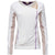 FREDDY WHITE ACTIVE ASYMMETRICAL ZIP SWEAT - WHITE