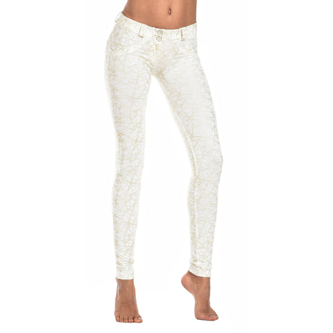 FREDDY WR.UP  SPLATTER PRINT PANT - White - LIVIFY  - 1