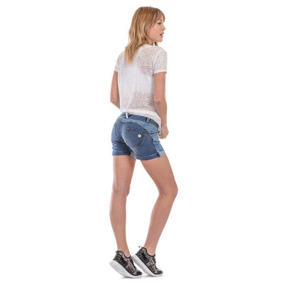 Freddy WR.UP® Distressed Denim Shorts - Medium Rinse