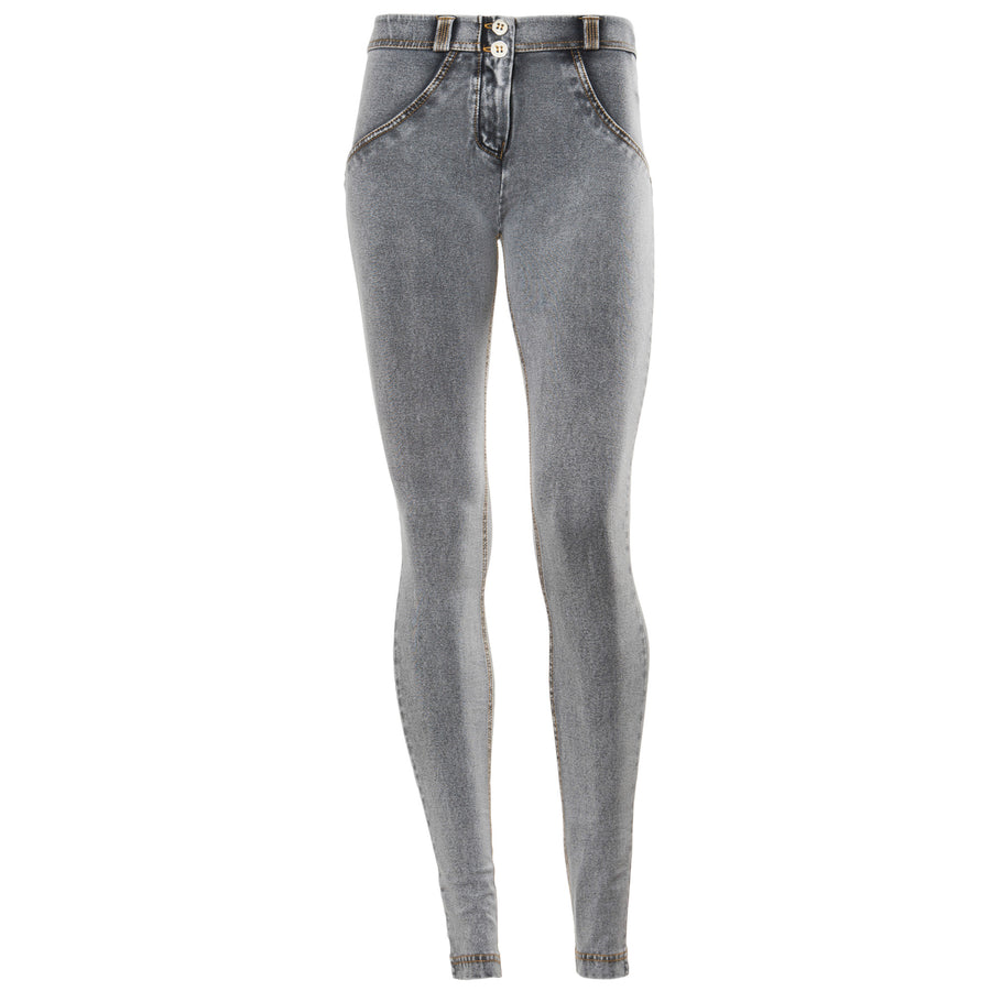Freddy WR.UP® Denim Regular Rise Skinny - Grey Rinse + Yellow Stitching