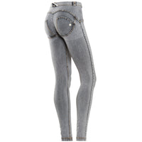 Freddy WR.UP® Mid Rise Denim Skinny - Grey Rinse