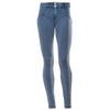 Freddy WR.UP® Denim Regular Rise Skinny - Medium Rinse + Yellow Stitching
