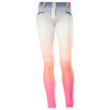 FREDDY WR.UP 7/8 ANKLE OMBRE PRINT PANT - Peach