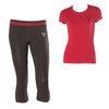 FREDDY WR.UP  SPORT SHAPING EFFECT CORSAIR PANT + TEE SET- Cherry