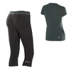 FREDDY WR.UP  SPORT SHAPING EFFECT CORSAIR PANT + TEE SET - Black/Leaf