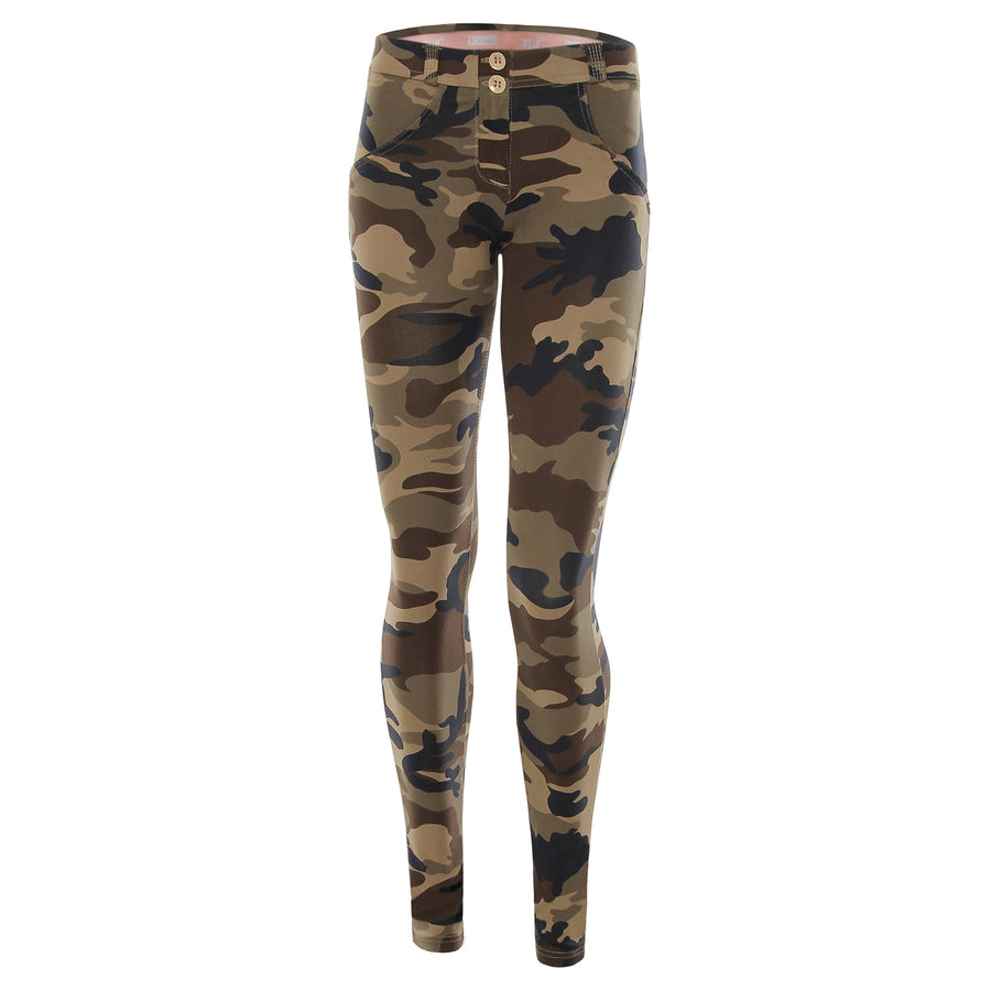 Freddy WR.UP® Regular Rise Skinny - Dark Camo