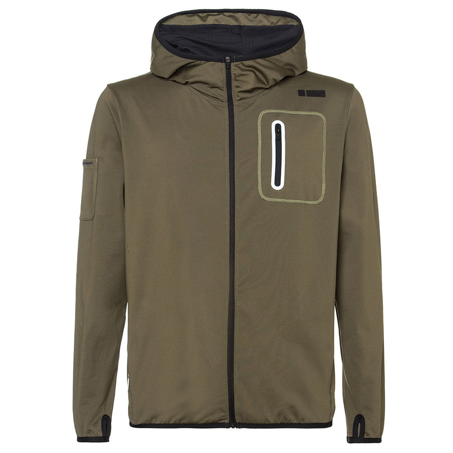 Freddy Mens Full Zip Hoodie - Army