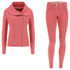 Freddy Lightweight Tracksuit With Asymetrical Zip Jacket Matching WR.UP® Pant - Red