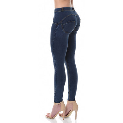Freddy WR.UP® Denim Regular Rise Skinny - Dark Rinse + Yellow Stitching