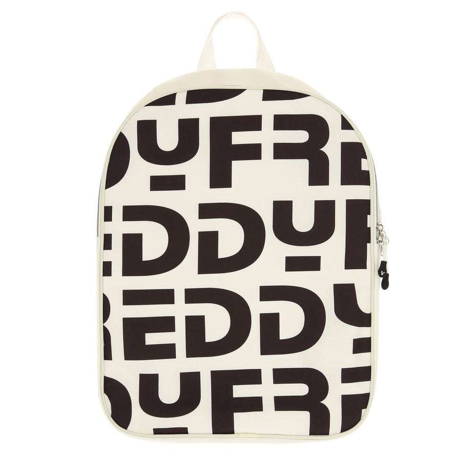 Freddy all over print logo Bagpack-White