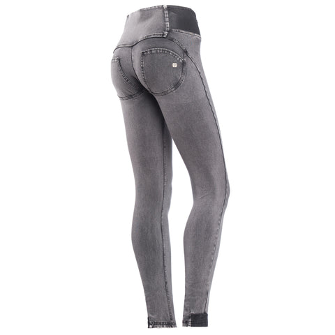 FREDDY WR.UP HIGH RISE DENIM EFFECT - Grey Rinse