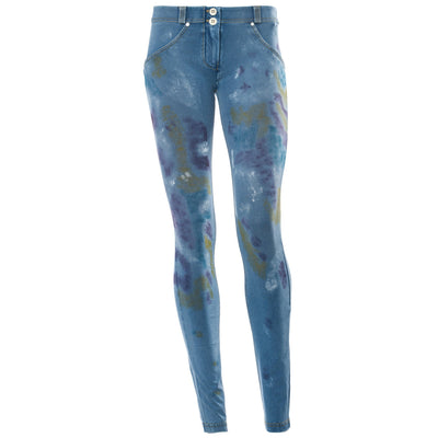 Freddy WR.UP® Hand Painted Denim Low Rise Skinny - Medium Rinse