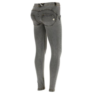 Freddy WR.UP® Denim Regular Rise Super Skinny - Grey Rinse + Yellow Stitching
